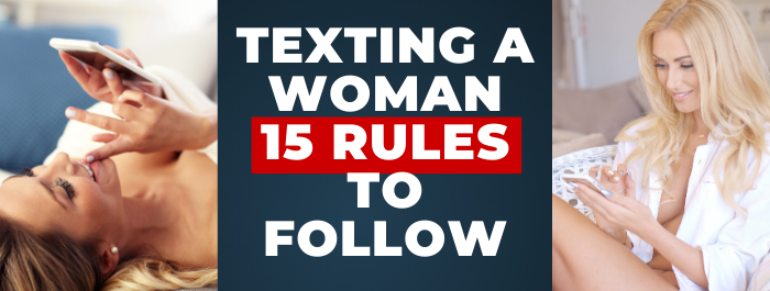 texting a woman