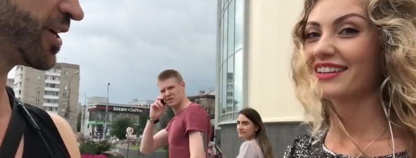 approaching beautiful Russian women